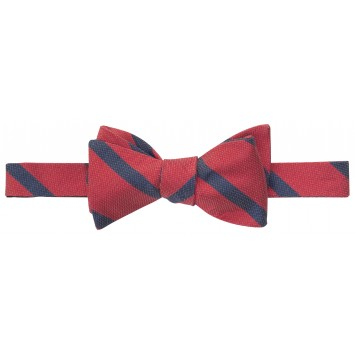 Single Stripe Bar Bow: Red and Navy